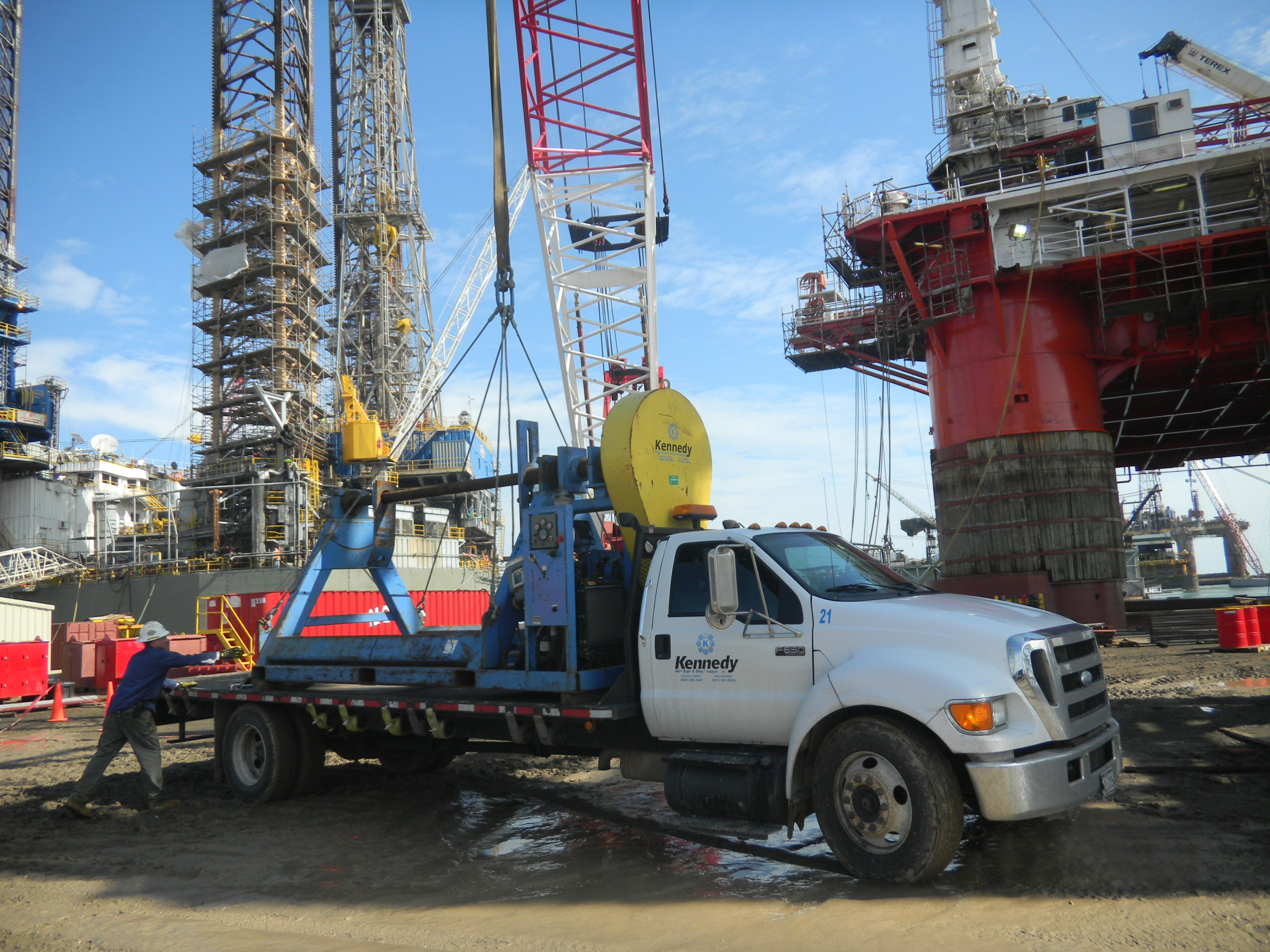 On Site Services Wire Rope Spooling Truck Kennedy Wire
