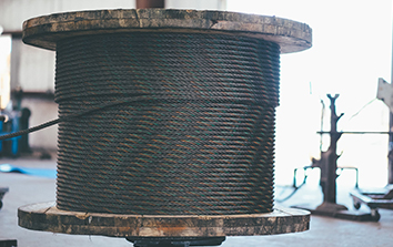 Image of wire rope spool